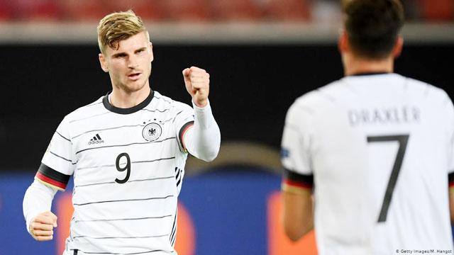 Tiền đạo Timo Werner sẽ lại ghi bàn như trong trận gặp Liechtenstein?