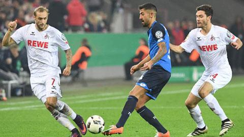 Phong độ khá ổn định sẽ giúp Cologne (áo trắng) có điểm trên sân của Hoffenheim
